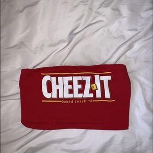 Cheez it crop top